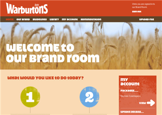 Warburtons Brand Room developed by liquid